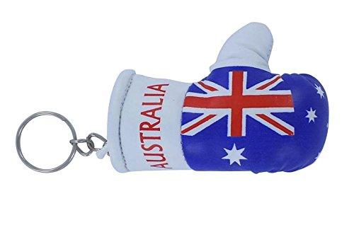 Akacha Boxhandschuh-Schlüsselanhänger mit australischer Flagge