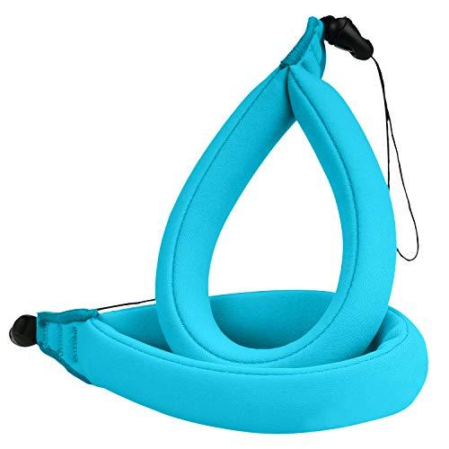 MoKo wasserdichte Kamera Schwimmer Handschlaufe - (2-Stück) Schwimmende Armtrageschlaufe Float Strap für Ihre Unterwasserkamera, GoPro, Nikon, Olympus, Canon, Panasonic Lumix,Blau