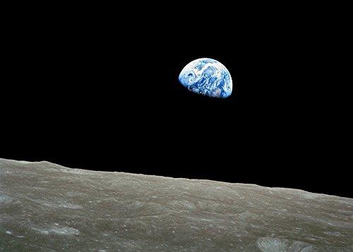 Spiffing Prints NASA - Apollo 8 Dec 24 Earthrise - Extra Large - Matte Print