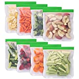 Greenzla Reusable Gallon Bags - 8 Pack - EXTRA THICK Reusable Freezer Bags - BPA Free, Easy Seal & LEAKPROOF Food Storage Bags for Marinate Food, Fruits, Sandwich, Snack, Meal Prep, Travel Item