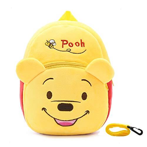CHDJ Verbesserter Kinder-Rucksack aus Plüsch mit Sicherheitsgeschirr und Leine, verspielte Vorschulkinder-Lunch-Tasche