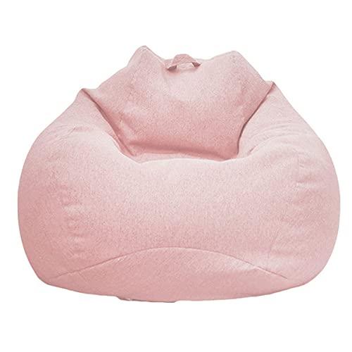Puff Pera sin Relleno para Adultos y Niños, Chickwin Exterior y Interior Bean Bag Bolsa de Frijol para Silla Tumbona Perezosa Funda para Sillón Cubierta de Sillón (Rosa,M)