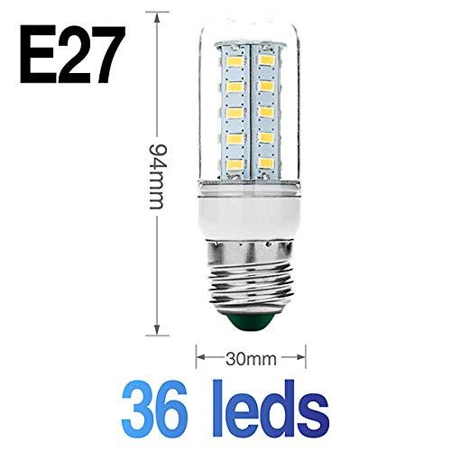 Smd Led-lamp Flexibele dubbele kop-lampvoet met LED-maïskolf Ac85-265V Ac220V schakelaar EU Us -stekkerlamphouder E27 30 36 56 72 89Leds Lampen-E27_36Leds_Cold_White