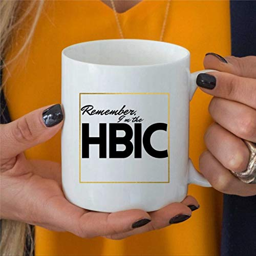 Taza de café con texto en inglés 'Remember I'm The HBIC', regalo para el día de la madre, taza de café perfecta para mamá, taza de café de cerámica, ideal para mamá, 325 ml, taza de café bq179