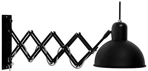 it's about RoMi Industrielle Wandlampe Aberdeen Wandleuchte 59/85 cm, schwarz