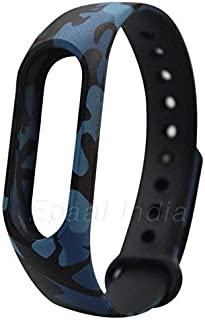 Epaal Camouflage Pattern Watch Strap for Mi Band 2 and HRX(Army Blue)