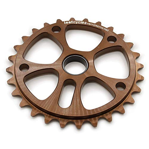 Leafcycles ® BMX & Dirtjumping Kettenblatt aus 7075-T6 Aluminium für 19 mm Achsen, 28 Zähne, braun