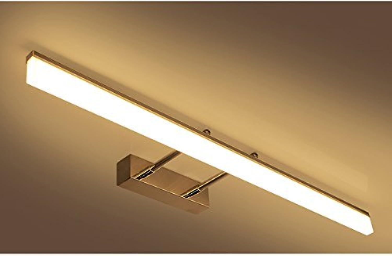 XHCP Badezimmer Badezimmer einfache Anti-Fog Wasser led Spiegel frontleuchten (Farbe  warmes licht-60 cm (9 watt))