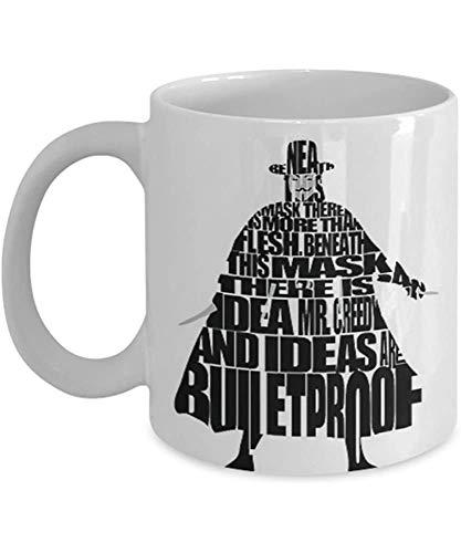 V para Vendetta - Taza de café Cita de taza Idea de regalo para él o sus mujeres y madre Día del padre Hermana Hermano Padre Amigo