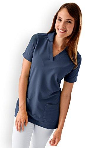 CLINIC DRESS - Damen-Longshirt Navy mit Zwei Taschen Navy 42/44