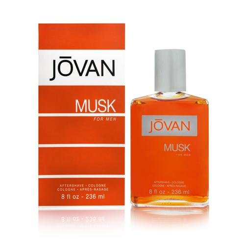 Jovan Musk for Men, After Shave Cologne, 8 fl. oz., Men's Fragrance with Musk, Spicy, Earthy & Woody, A Sexually Appealing & Attractive Spray On Scent That Makes a Great Gift.