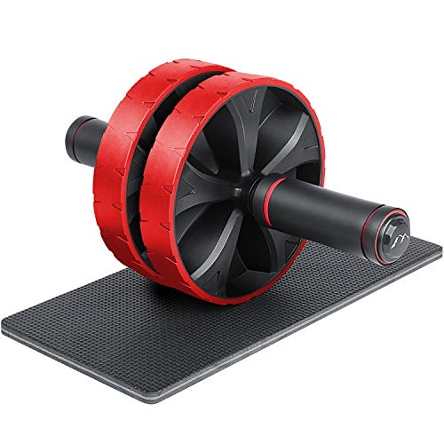EliteAthlete AB Roller - Bauchtrainer - Sixpack Trainer - Bauchroller - Abdominal Roller - Bauch Weg Trainer - Bauchmuskeltraining - AB Wheel - Bauchmuskeltrainer inkl. gepolsterter Kniematte