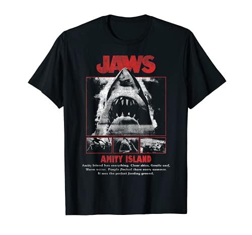 Jaws Movie Pop Poster Camiseta