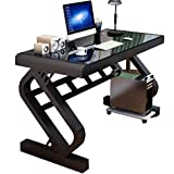 Computer Desks Sturdy Home Office Students Desk, Computer Desk with Hutch, Modern Simple Style Computer Desk, PC Laptop Computer Desk (Color : Black, Size : 806075cm)