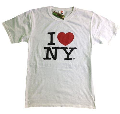 I Love NY New York Kids Short Sleeve Bildschirm Print Heart T-Shirt weiß Gr. Medium, Weiß - Weiß
