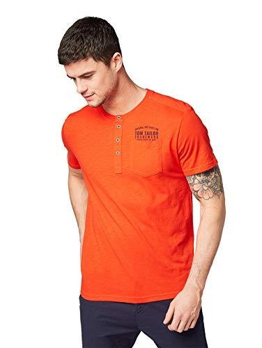 TOM TAILOR voor mannen T-shirts/tops T-shirt in henley look