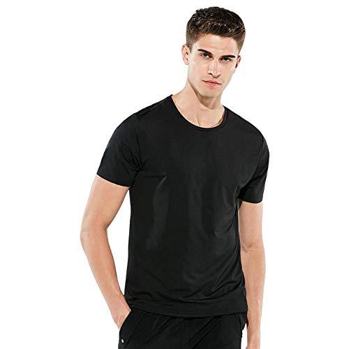 Bearcolo waterbestendig anti-fouling T-shirt voor heren, korte mouwen, sneldrogend T-shirt voor dames outdoor sports nano ronde nek T-shirt M zwart