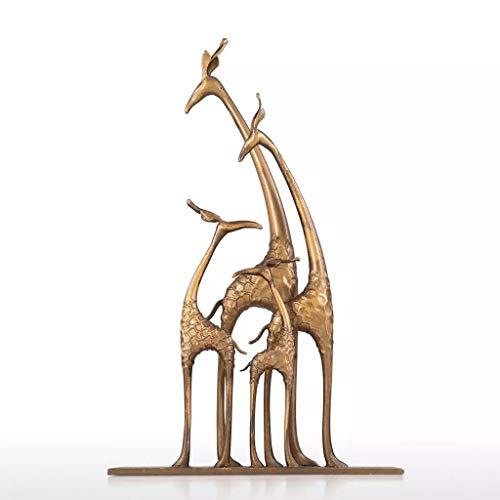 SMEJS Estatuas Estatua de Ciervo Jirafa Familia Coleccionable Figura de Vida Silvestre Escultura Estatua Mesa Accesorios de decoración del hogar