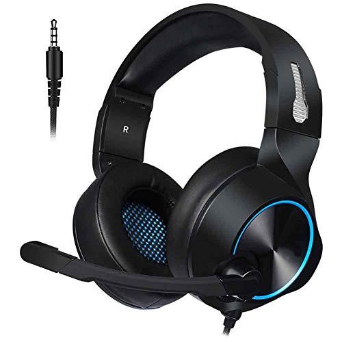 Qiutianchen Gaming Headset, Casque PC PS4 Xbox Casque avec Microphone de Bruit, Basse Surround Sound, Casque for PC Mac Portable iPad Smartphone, A (Color : A)