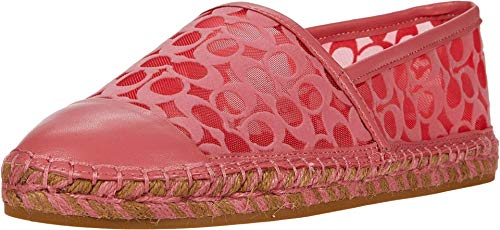 COACH Cleo Espadrille Orchid Signature C Mesh/Leather 7 M