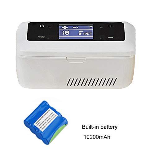 Caja de almacenaje de la insulina Nevera Portátil para Medicamento Coche Hogar Oficina Mini Nevera 2-8℃