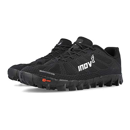 Inov-8 Mudclaw 275 - Trail Running OCR Shoes - Soft Ground - for Obstacle, Spartan Races and Mud Running - Black/Silver 11 Women/9.5 Men