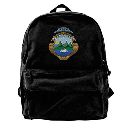 Schoolbag Escudo De Armas De Costa Rica Mochila De Lona Bolsos De Hombro Livianos Mochila De Cumpleaños Linda Mochila para Computadora Portátil Mochila De Viaje Impresión De Libro