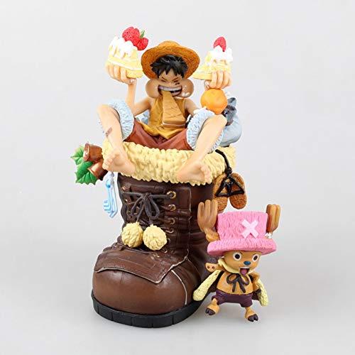 Figura Oficial de One Piece, Monkey D. Luffy, Tony Tony Chopper, Modelo de Disfraz de Navidad