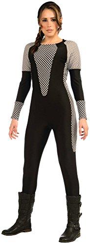 Ladies Black Katniss Hunter Jumpsuit Fancy Dress Costume