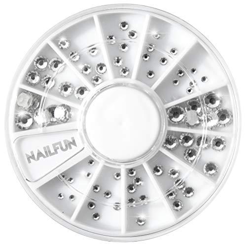 72 Strasssteine Kristall im Rondell - Größe 1,5-5 mm - in höchster Nailart Qualität