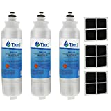 Tier1 Refrigerator Water & Air Filter Replacement for LG LT800P, ADQ73613401, Kenmore 9490, LT120F - Filtration that Improves Refrigerator Performance - 3 Pack