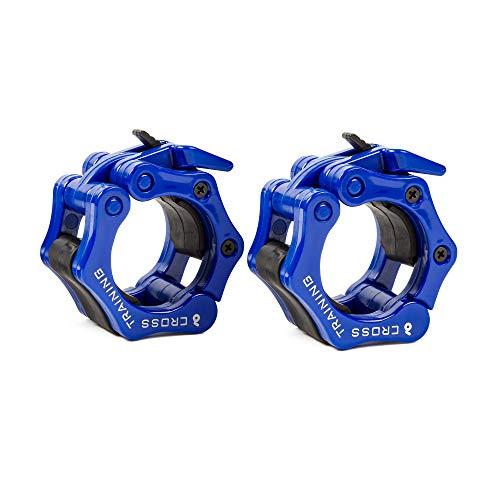 Earwaves ® Pro Lockers - Topes de Pesas para Barra olímpica. Bloqueadores de Discos para Crossfit, Halterofilia, Levantamiento de Pesas, etc. Pinzas Abrazaderas para Barra de Peso.