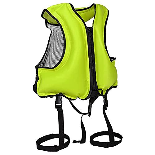 ZAYZ Chaleco de Snorkel Chaquetas Flotantes Inflables para Adultos, Chaleco Salvavidas para Nadar Surf (Color : Green, Size : 58x49cm)