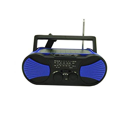 LXZ Wiederaufladbare 2000Mah, Solar-Mobile Stromversorgung, Notstrombatterie, Tragbare Wettersendung, Taschenlampe Nothandkurbel AM/FM-Self-Powered Kurbel Radio,D