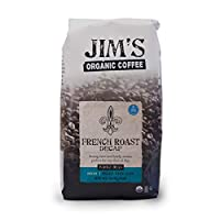 Jims Organic Coffee Coffee Beans - Organic - French Roast - Decaf - 11 oz - case of 6