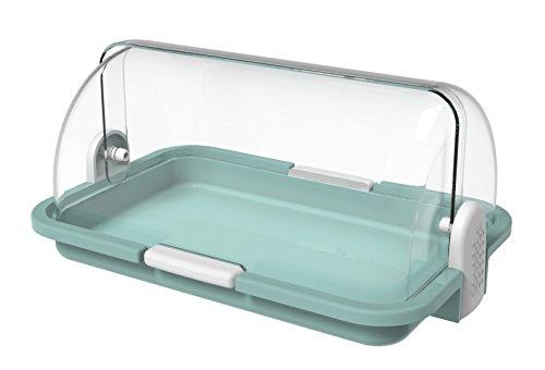 BIESSE Pin-Up Contenitore Multiuso per Alimenti, Verde Acqua, 29.5 x 20.5 x 13.5 cm