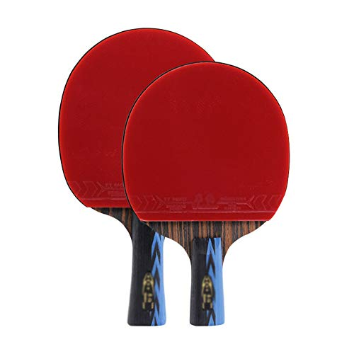 New 5 Layers of Solid Wood Ping Pong Racket,for Beginners Ping Pong Paddle and Protective Cover for ...