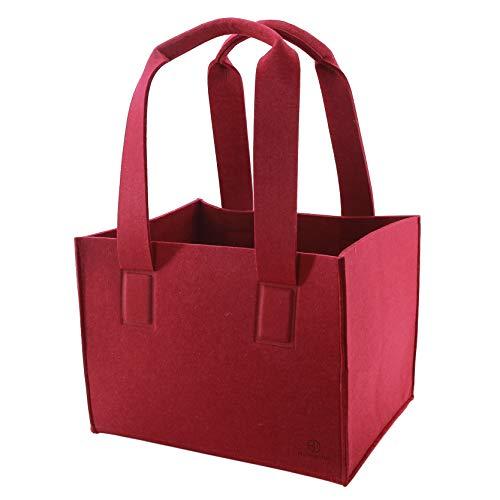 Sty-macher designer vilten tas maat L, antraciet, nieuw model 2019, boodschappenmand, shopper, haardhout, vilt, afmetingen 40 x 30 x 32