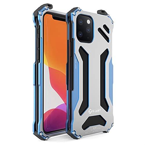 WBBFC Funda de metal para iPhone 12 Pro Max Mini protector a prueba de golpes de aleación de aluminio serie lujo a prueba de golpes (color: azul, material: para iPhone 12 Mini)