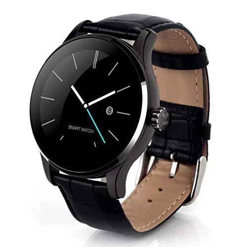 Reloj Inteligente,Webla, K88H Mtk2502C Bluetooth Reloj de Pulsera de Ritmo Cardíaco Reloj de Pulsera de Cuero Bk Negro (BK)