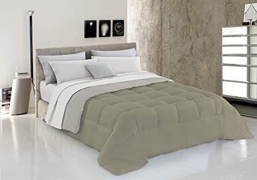 Italian Bed Linen Piumino Invernale, Tortora/Panna, 150 x 200 cm