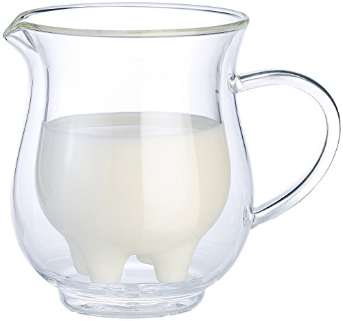Cucina di Modena Milchkanne: Doppelwandiges Milchkännchen im witzigen Euterdesign, 200 ml (Milchkanne Euter)