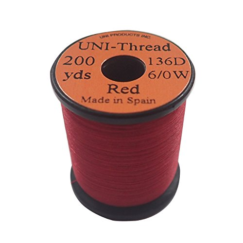 UNI Products 6/0 Unithread Waxed - Red