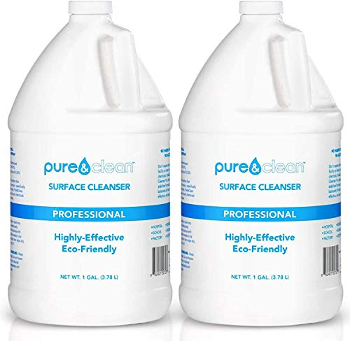 Pure & Clean Multi Surface Cleaner PRO - Hypochlorous Acid Cleaning Solution - Powerful & Non-Toxic - Used by Medical Professionals & Facilities - Electrolyzed Water & HOCl Formula - 2 Gallon