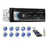 Autoradio mit Bluetooth Freisprecheinrichtung, Auto Radio mit Bluetooth und USB*2/AUX/TF/FM/MP3 Player, Radio 1 DIN Anschluss, Stereo FM Radio mit Fernbedienung