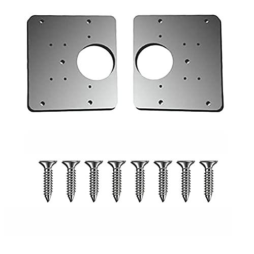 Allegorly Scharnier Reparaturplatte für Kleiderschrank Küchenscharnier Reparaturplatten Scharnier Reparatur Set Schrank Scharnier mit Loch Scharnier Reparaturplatte für Möbel 10x9x1.5cm