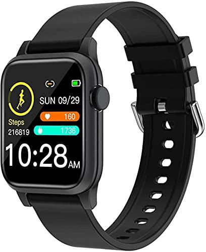 QHG Sports Fitness Tracker Monitor de Ritmo cardíaco Presión Arterial Oxygen Activity Tracker Health Smart Watch para iOS & Androide (Color : Black)
