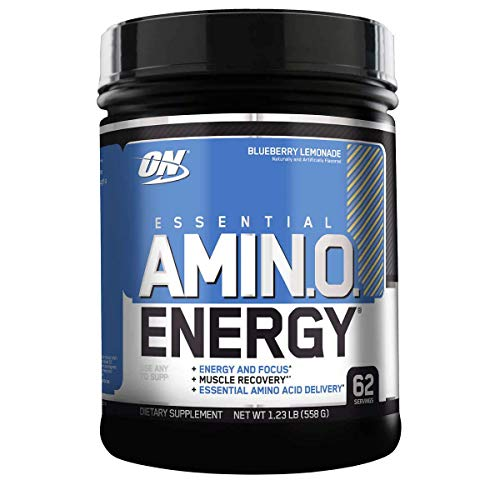 OPTIMUM NUTRITION ESSENTIAL AMINO ENERGY with Green Tea and Green Coffee Extract, Flavor: Blueberry Lemonade, 62 Servings