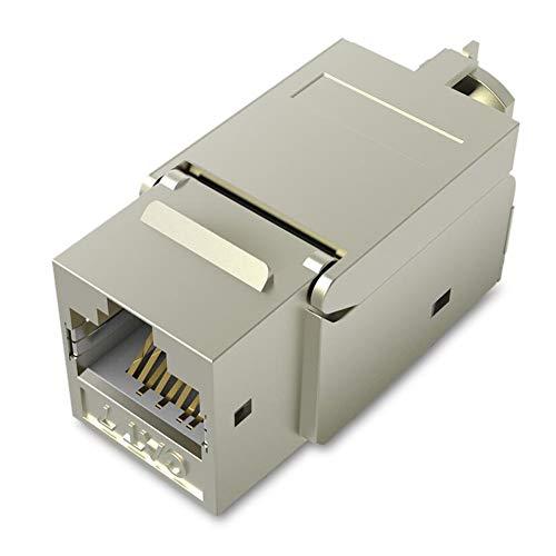 Conector modular RJ45, VENTION Cat7 Cat6 Cat5 RJ45 8P8C conector Keystone de red conector RJ45 conector hembra a hembra, carcasa de metal, adaptador extensor de cable Ethernet (5 unidades)