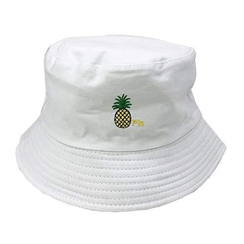 JXMK Cappello da spiaggia pieghevole Unisex con Ricamo Cappello da spiaggia Cappello da Sole da Strada Cappello da pescatore da esterno Cappello da uomo e da Donna